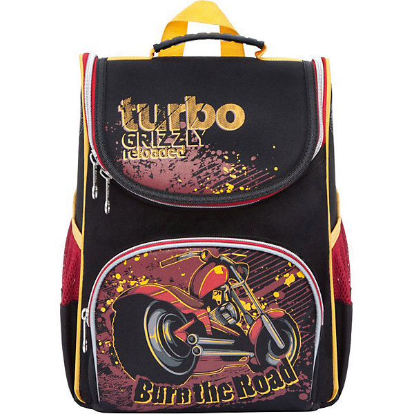 Рюкзак школьный Grizzly с мешком для обуви, чёрный/красныйРюкзаки<br>Характеристики:<br><br>• школьный рюкзак-ранец;<br>• жесткая анатомическая спинка;<br>• регулируемые эластичные лямки;<br>• дополнительная ручка для переноски рюкзака в руках;<br>• замок: молния;<br>• откидное жесткое дно;<br>• вмещает формат А4;<br>• светоотражающие элементы;<br>• в комплекте: мешок для обуви;<br>• материал: полиэстер;<br>• размер рюкзака: 25х33х13 см;<br>• вес: 680 гр.<br><br>Школьный рюкзак Grizzly имеет одно отделение с двумя перегородками, объемный карман на молнии на передней стенке, боковые карманы из сетки, разделительную перегородку-органайзер, брелок-катафот, светоотражающие элементы с четырех сторон. Жесткая спинка разработана с учетом анатомии ребенка, позвоночник защищен специально сконструированной спинкой.<br><br>Grizzly Рюкзак школьный с мешком можно купить в нашем интернет-магазине.<br>Ширина мм: 250; Глубина мм: 130; Высота мм: 330; Вес г: 620; Цвет: черный/розовый; Возраст от месяцев: 72; Возраст до месяцев: 108; Пол: Мужской; Возраст: Детский; SKU: 8317412;