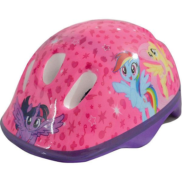 """Шлем My little Pony, 56 см.Защитные аксессуары<br>Характеристики товара:<br><br>• возраст: от 5 лет;<br>• цвет: розовый, голубой;<br>• материал: пластик;  <br>• размер: 14х31х40 см;<br>• упаковка: пакет с хедером;<br>• страна бренда: Китай;<br>• бренд: Next.<br><br>Детский шлем от бренда Next с изображением героев культового мультфильма """"My little pony"""" подойдет маленьким активным любительницам этого мультсериала, которые проводят свое время за катанием на роликах, велосипеде или самокате.<br><br>Защитный головной убор изготовлен из пластика и снабжен фиксирующим ремешком. Шлем соответсвует европейскому размеру М и российскому 54-58 мм. Надежно фиксируется на голове, обеспечивая безопасность ребенку. В корпусе предусмотрены вентиляционные прорези, чтобы голова не потела. <br><br>Шлем My little Pony можно купить в нашем интернет-магазине.<br>Ширина мм: 300; Глубина мм: 140; Высота мм: 280; Вес г: 120; Цвет: розовый; Возраст от месяцев: 48; Возраст до месяцев: 72; Пол: Женский; Возраст: Детский; SKU: 8320473;"""