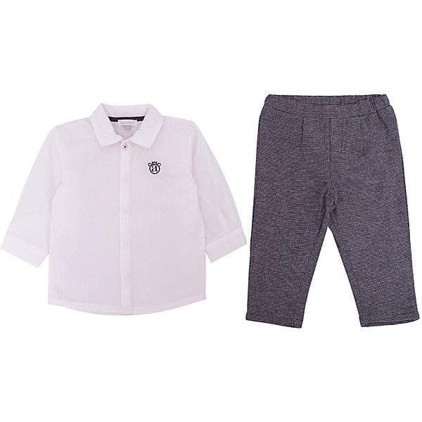 Комплект: Рубашка, брюки Absorba для мальчикаКомплекты<br>Комплект: Рубашка, брюки Absorba для мальчика<br>Состав:<br>85% полиэстер 15% шерсть/100% хлопок<br>Ширина мм: 186; Глубина мм: 87; Высота мм: 198; Вес г: 197; Цвет: серый; Возраст от месяцев: 6; Возраст до месяцев: 9; Пол: Мужской; Возраст: Детский; Размер: 74,71,68,55-61,86,80; SKU: 8328380;