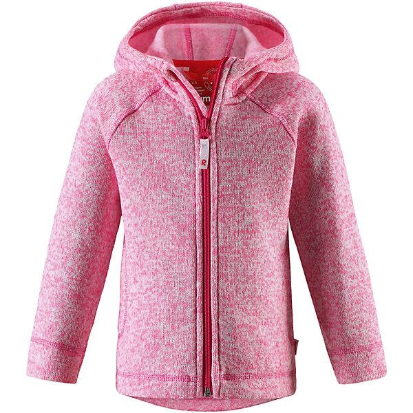 Куртка флисовая  Reima для девочкиФлис и термобелье<br>Куртка флисовая  Reima для девочки<br>Детская флисовая кофта Reima® с облегающим капюшоном на прохладный день. Можно использовать как верхнюю одежду в сухую погоду весной и осенью или поддевать в качестве промежуточного слоя в холода. Обратите внимание на удобную систему кнопок Play Layers®, с помощью которой легко присоединить кофту к одежде из серии Reima® Play Layers и обеспечить ребенку дополнительное тепло и комфорт. Высококачественный полярный флис – это теплый, легкий и быстросохнущий материал, он идеально подходит для активных прогулок. Удлиненная спинка обеспечивает дополнительную защиту для поясницы, а молния во всю длину с защитой для подбородка облегчает надевание.<br>Состав:<br>100% Полиэстер<br>Ширина мм: 356; Глубина мм: 10; Высота мм: 245; Вес г: 519; Цвет: розовый; Возраст от месяцев: 18; Возраст до месяцев: 24; Пол: Женский; Возраст: Детский; Размер: 92,134; SKU: 8329577;