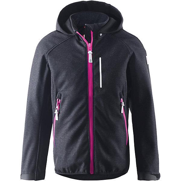 Куртка  Reima для девочкиВерхняя одежда<br>Куртка  Reima для девочки<br>#Куртка из материала softshell для подростков#Из ветронепроницаемого материала, но изделие «дышит»#Водо- и ветронепроницаемый «дышащий» материал#Крой для девочек#Безопасный, съемный капюшон#Регулируемый манжет на липучке#Карманы на молнии#<br>Состав:<br>95% ПЭ 5% ЭЛ, ПУ мембрана<br>Ширина мм: 356; Глубина мм: 10; Высота мм: 245; Вес г: 519; Цвет: черный; Возраст от месяцев: 120; Возраст до месяцев: 132; Пол: Женский; Возраст: Детский; Размер: 146,140,134,128,122,116,152; SKU: 8329823;