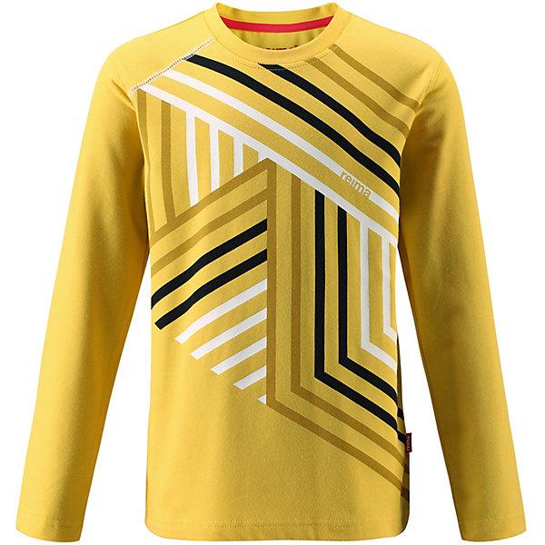 Джемпер  Reima для мальчикаФлис и термобелье<br>Джемпер  Reima для мальчика<br>Детская футболка с длинными рукавами изготовлена из удобного быстросохнущего материала Play Jersey. Лицевая поверхность этого особо мягкого хлопчатобумажного материала очень приятна на ощупь, а обратная сторона эффективно отводит влагу. Благодаря эластану ткань тянется, обеспечивает комфорт и не сковывает движений во время подвижных веселых игр. Обратите внимание, что одежду Play Jersey также можно носить круглый год – материал имеет УФ-защиту 40+. Модный рисунок спереди будет красиво сочетаться с разнообразной одеждой.<br>Состав:<br>61% Хлопок, 33% Полиэстер, 6% Эластан<br>Ширина мм: 190; Глубина мм: 74; Высота мм: 229; Вес г: 236; Цвет: желтый; Возраст от месяцев: 132; Возраст до месяцев: 144; Пол: Мужской; Возраст: Детский; Размер: 152; SKU: 8329936;