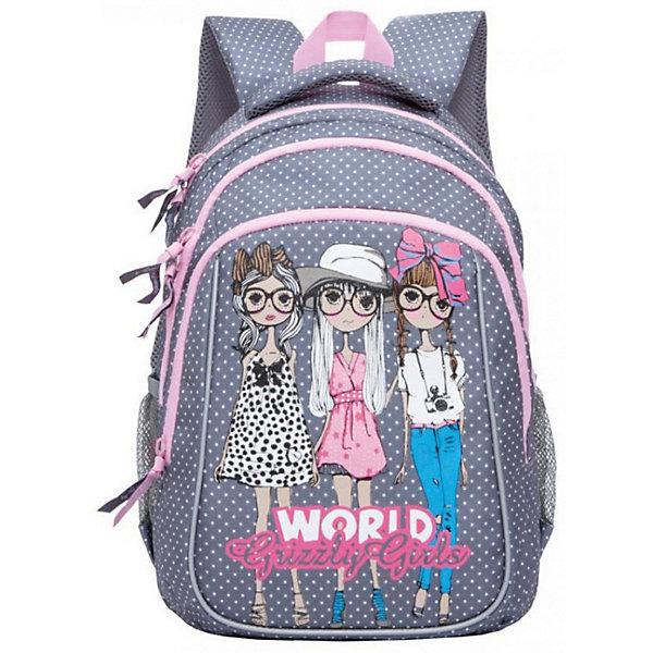 Рюкзак школьный Grizzly, серыйРюкзаки<br>Характеристики:<br><br>• школьный рюкзак;<br>• жесткая анатомическая спинка;<br>• дополнительная ручка-петля;<br>• мягкая укрепленная ручка;<br>• укрепленные лямки;<br>• мягкое дно;<br>• тип застежки: молния;<br>• светоотражающие элементы;<br>• вмещает формат А4;<br>• материал: нейлон;<br>• размер рюкзака: 29х39х17 см;<br>• вес: 1020 г.<br><br>Школьный рюкзак имеет два отделения, два объемных кармана на молнии на передней стенке, боковые карманы из сетки, внутренний подвесной карман на молнии, внутренний составной пенал-органайзер. Светоотражающие элементы с четырех сторон делают ребенка заметнее на дорогах в темное время суток.<br><br>Grizzly Рюкзак школьный серый можно купить в нашем интернет-магазине.<br>Ширина мм: 270; Глубина мм: 40; Высота мм: 410; Вес г: 550; Цвет: серый; Возраст от месяцев: 108; Возраст до месяцев: 144; Пол: Женский; Возраст: Детский; SKU: 8333786;