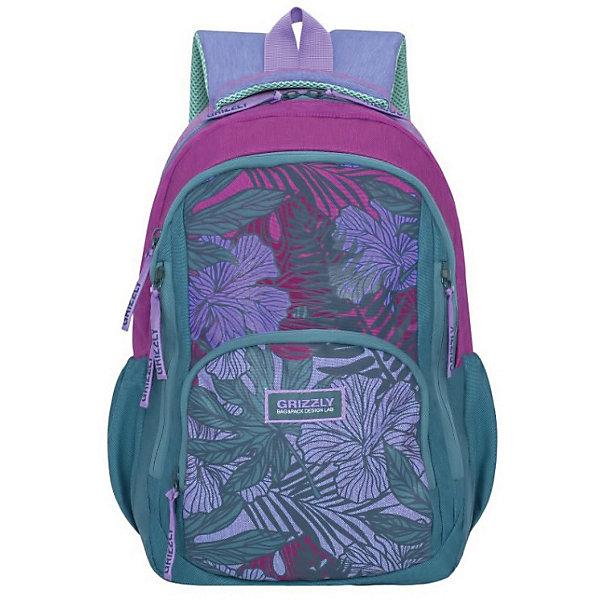 RD-754-1 Рюкзак /3 зеленый - малиновыйРюкзаки<br>Характеристики:<br><br>• школьный рюкзак;<br>• полужесткая анатомическая спинка;<br>• мягкая укрепленная ручка;<br>• дополнительная ручка-петля;<br>• укрепленные лямки;<br>• мягкое дно;<br>• тип застежки: молния;<br>• вмещает формат А4;<br>• материал: полиэстер принтованный;<br>• размер рюкзака: 31х42х20 см;<br>• вес рюкзака: 662 г.<br><br>Школьный рюкзак имеет два отделения, внутренний карман на молнии, внутренний карман-пенал для карандашей. Рюкзак с анатомической спинкой и мягкими подушечками из вентилируемого материала. Рюкзак представлен в зеленом цвете, декорирован малиновым цветочным принтом.<br><br>Grizzly RD-754-1 Рюкзак /3 зеленый-малиновый можно купить в нашем интернет-магазине.<br>Ширина мм: 290; Глубина мм: 40; Высота мм: 420; Вес г: 520; Цвет: зеленый/розовый; Возраст от месяцев: 144; Возраст до месяцев: 2147483647; Пол: Женский; Возраст: Детский; SKU: 8333904;