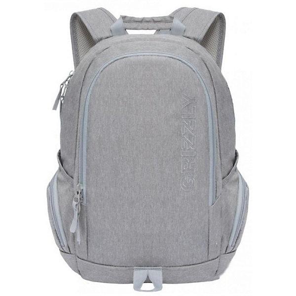 Рюкзак Grizzly, серыйРюкзаки<br>Характеристики:<br><br>• молодежный рюкзак;<br>• жесткая анатомическая спинка;<br>• дополнительная ручка-петля;<br>• укрепленные лямки;<br>• уплотненное дно;<br>• тип застежки: молния;<br>• вмещает формат А4;<br>• материал: полиэстер;<br>• размер рюкзака: 30х46х17 см;<br>• вес: 515 г.<br><br>Молодежный рюкзак имеет два отделения, объемные боковые карманы на молнии, внутренний карман для электронных устройств, внутренний карман на молнии. Современный рюкзак оформлен в строгом стиле, нет ничего лишнего, отделения продуманы таким образом, чтобы создать максимальный комфорт при использовании пространства.  <br><br>Grizzly RU-809-1 Рюкзак /1 серый можно купить в нашем интернет-магазине.<br>Ширина мм: 300; Глубина мм: 40; Высота мм: 460; Вес г: 515; Цвет: серый; Возраст от месяцев: 120; Возраст до месяцев: 2147483647; Пол: Мужской; Возраст: Детский; SKU: 8333910;