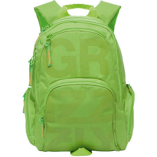 Рюкзак Grizzly, салатовыйРюкзаки<br>Характеристики:<br><br>• возраст от: 6 лет;<br>• цвет: салатовый;<br>• материал: неопрен, нейлон;<br>• размер рюкзака: 42х22х31см.;<br>• объем рюкзака: средний ( 20 л.);<br>• вес рюкзака: 700 гр.;<br>• спинка: ортопедическая, воздухопроницаемая;<br>• тип застёжки: молния;<br>• количество отделений: 2 отделения;<br>• количество карманов: 3 внешних/6 внутренних;<br>• дополнительная ручка-петля;<br>• износостойкая обивка;<br>• регулируемые анатомические лямки;<br>• стильный дизайн;<br>• бренд, страна бренда: Grizzly, Россия.<br><br>Молодежный рюкзак с двумя основными отделениями, карман на молнии на передней стенке, объемный карман на молнии на передней стенке, объемные боковые карманы на молнии, внутренний карман-пенал для карандашей, внутренний карман под гаджет и карман на молнии, жесткая анатомическая спинка для равномерного распределения нагрузки на позвоночник ребенка, дополнительная ручка-петля, укрепленные лямки.<br><br>Рюкзак Grizzly салатовый можно купить в нашем интернет-магазине.<br>Ширина мм: 300; Глубина мм: 40; Высота мм: 420; Вес г: 708; Цвет: светло-зеленый; Возраст от месяцев: 120; Возраст до месяцев: 2147483647; Пол: Мужской; Возраст: Детский; SKU: 8339108;