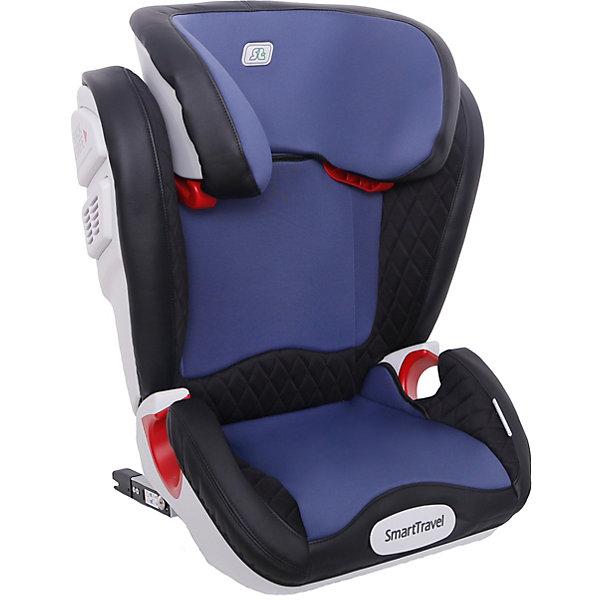 Автокресло Smart Travel Expert Fix, blueГруппа 2-3  (от 15 до 36 кг)<br>Автокресло Expert Fix Smart Travel разработано для детей от 3 до 12 лет, весом от 15 кг до 36 кг. Относится к возрастной группе 2/3.<br>Кресло трансформируется под две возрастные группы: от 3 до 6-7 лет(в полной комплектации), от 7 до 12 лет (фиксация подголовника в крайнем верхнем положении).<br>Перфорированная ткань в области спины не допускает перегрева и обеспечивает вентиляцию. Увеличенное посадочное место повышает уровень комфорта во время поездки.<br>Особая форма подголовника и увеличенная боковая поддержка снизу обеспечивают защиту ребенка в случае бокового удара. Боковые демпферы значительно снижают риск летального исхода во время ДТП. Специальные пластиковые накладки и направляющие штатного ремня гарантируют правильное прохождение ремня безопасности.<br>Детские удерживающие устройства Smart Travel разработаны и сделаны в России с учетом анатомии российских детей. Автокресло успешно прошло все необходимые краш-тесты и имеет сертификат соответствия техническому регламенту РФ и таможенному союзу.<br>• Износостойкий съемный чехол<br>• Увеличенное посадочное место<br>• Особая форма подголовника<br>• Боковая защита головы<br>• Увеличенная боковая нижняя защита<br>• Боковые демпферы<br>• Изготовлено из гипоаллергенных материалов<br>• Регулировка подголовника по высоте<br>• Перфорированная спинка<br>• Соответствие европейским стандартам безопасности (ЕЭК ООН №44-04) и стандартам таможенного союза<br>Ширина мм: 800; Глубина мм: 515; Высота мм: 460; Вес г: 8300; Цвет: синий; Возраст от месяцев: 36; Возраст до месяцев: 144; Пол: Унисекс; Возраст: Детский; SKU: 8353057;