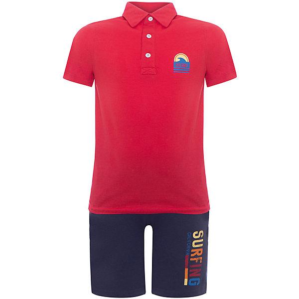 Комплект: футболка,шорты Original Marines для мальчикаКомплекты<br>Характеристики товара:<br><br>• цвет: синий/красный<br>• комплектация: футболка-поло и шорты<br>• состав ткани: 100% хлопок<br>• сезон: лето<br>• особенности модели: спортивный стиль<br>• пояс: резинка<br>• страна бренда: Италия<br>• комфорт и качество<br>• печатный принт<br><br>Яркий комплект из футболки в стиле поло и шорт идеален для активных летних прогулок. Комплект для ребенка сделан из натурального качественного материала. Детский комплект комфортно сидит, не вызывает неудобств. Итальянский бренд Original Marines - это стильный продуманный дизайн и неизменно высокое качество исполнения. <br><br>Комплект: футболка-поло и шорты Original Marines (Ориджинал Маринс) для мальчика можно купить в нашем интернет-магазине.<br>Ширина мм: 199; Глубина мм: 10; Высота мм: 161; Вес г: 151; Цвет: красный; Возраст от месяцев: 84; Возраст до месяцев: 96; Пол: Мужской; Возраст: Детский; Размер: 128,152,140; SKU: 8382107;