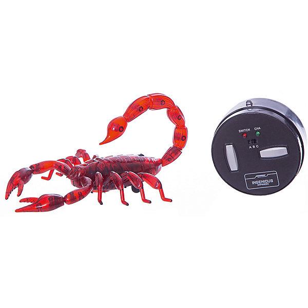 Робот на ИК управлении 1toy Robo Life Робо-скорпион, красныйДругие радиуправляемые игрушки<br>Характеристики:<br><br>• возраст: от 3 лет;<br>• материал: пластик, металл;<br>• комплектация: робо-скорпион, пульт управления;<br>• цвет: красный;<br>• тип батареек: 3 x AA / LR6 1.5V (пальчиковые);<br>• наличие батареек: не входят в комплект; <br>• вес: 250 гр;<br>• размер: 27х17,5х5,2 см;<br>• страна бренда: Россия;<br>• бренд:  1 TOY.<br><br>Робо- скорпион на ИК управлении благодаря своим возможностям и реалистичному дизайну, поразительно схож с настоящим животным. При помощи пульта игрушке можно задавать движение вперед и вправо, а также вращение на 360 градусов. Она удивительно правдоподобно шевелится и семенит лапками. Скорпион сделан из пластика и оснащен световым эффектом.<br><br>Робо- скорпион на ИК управлении можно купить в нашем интернет-магазине.<br>Ширина мм: 270; Глубина мм: 175; Высота мм: 52; Вес г: 250; Цвет: разноцветный; Возраст от месяцев: 60; Возраст до месяцев: 2147483647; Пол: Унисекс; Возраст: Детский; SKU: 8422547;