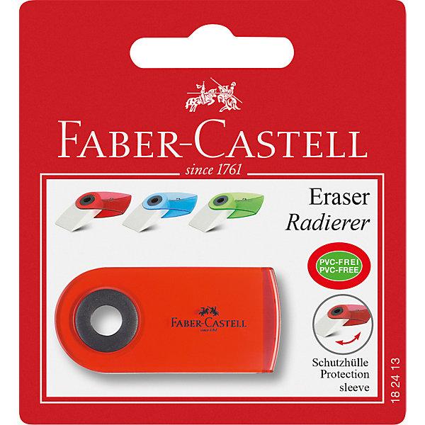 Ластик Faber-Castell «Sleeve mini», 1 штЛастики и точилки<br>Характеристики: <br><br>• возраст: от 3 лет;<br>• материал: винил;<br>• вес упаковки: 30 гр;<br>• тип упаковки: блистер;<br>• размер: 13х9х10 см;<br>• вес упаковки: 30 гр;<br>• страна бренда: Германия.<br><br>Ластик Faber-Castell «Sleeve mini» (Фабер-Кастел «Слив мини») отлично подойдет для графитных и цветных карандашей. Однородный, не оставляет грязи. Полупрозрачный подвижный колпачок надежно защищает ластик от загрязнения. Не содержит ПВХ. Цвет колпачка: прозрачный красный, синий и зеленый;<br><br>Ластик Faber-Castell «Sleeve mini» (Фабер-Кастел «Слив мини»), 1 шт можно купить в нашем интернет магазине.<br>Ширина мм: 130; Глубина мм: 90; Высота мм: 100; Вес г: 30; Цвет: разноцветный; Возраст от месяцев: 36; Возраст до месяцев: 2147483647; Пол: Унисекс; Возраст: Детский; SKU: 8424215;