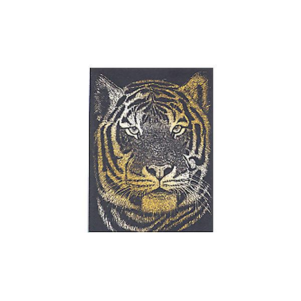 Гравюра Royal&amp;Langnickel Бенгальский тигр, золотоГравюры для детей<br>Характеристики:<br><br>• возраст: от 8 лет;<br>• материал: пластик, картон;<br>• комплектация: гравюра, скребок;<br>• вес: 100 гр;<br>• размер: 21,3x1,5х29,5 см;<br>• бренд: Royal&amp;Langnickel.<br><br>GOLF 23 Гравюра «Бенгальский тигр» золото с металлическим эффектом  содержит в комплекте основу с нанесенным контуром и специальный штихель. Удивительное искусство создания гравюр имеет давнюю, многовековую историю. В наши дни этот вид творчества по-прежнему популярен. Более того, теперь он стал доступен даже для детей.  Рисунок нанесен на черном матовом покрытии, под которым скрыта основа бронзового цвета. Чтобы получить рисунок с эффектом настоящей гравюры достаточно процарапать покрытие по контуру рисунка, обнажиться скрытый слой и гравюра засверкает металлическим блеском.<br><br>GOLF 23 Гравюру «Бенгальский тигр» золото можно купить в нашем интернет-магазине.<br>Ширина мм: 213; Глубина мм: 15; Высота мм: 295; Вес г: 100; Возраст от месяцев: 96; Возраст до месяцев: 2147483647; Пол: Унисекс; Возраст: Детский; SKU: 8506925;