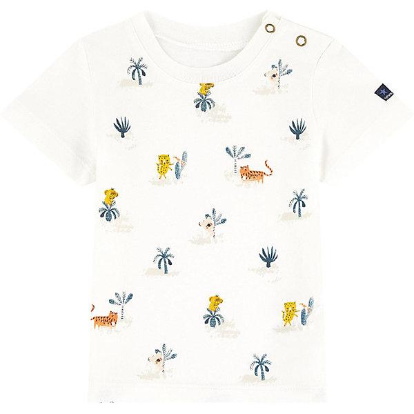 Футболка Catimini для мальчикаФутболки, поло и топы<br>Характеристики товара:<br><br>• цвет: белый/принт<br>• вид: для мальчика<br>• состав ткани: 100% хлопок<br>• сезон: лето<br>• короткие рукава<br>• кнопки на воротнике<br>• печатный принт <br>• страна бренда: Франция<br><br>Яркая детская футболка легко надевается благодаря двум кнопкам на воротнике. Футболка для ребенка выполнена из натурального хлопка, цвет не линяет, не деформируется от стирок. Детская футболка создает комфортные условия и удобно сидит по фигуре. Белый цвет и веселый печатный принт выгодно сочетаются с другими предметами гардероба.<br><br>С 1972 года в своих коллекциях марка Catimini  (Кантимини) использует только материалы высокого качества и самые неожиданные расцветки. <br><br>Футболку Catimini  (Кантимини)  для мальчика можно купить в нашем интернет-магазине.<br>Ширина мм: 199; Глубина мм: 10; Высота мм: 161; Вес г: 151; Цвет: экрю; Возраст от месяцев: 6; Возраст до месяцев: 9; Пол: Мужской; Возраст: Детский; Размер: 74,98,86,80,104; SKU: 8597106;