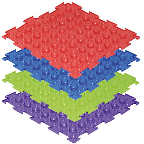 Модульный массажный коврик ОртоДон Камешки - первый шаг 8 шт., мягкиеМассажеры<br>Характеристики:<br><br>• возраст: от 1 года;<br>• материал: ПВХ;<br>• количество модулей: 8;<br>• цвета: салатовый, синий, красный, фиолетовый;<br>• размер одного модуля: 25х25 см;<br>• жесткость: мягкие;<br>• назначение: для ступней;<br>• цель: профилактика плоскостопия;<br>• вес упаковки: 2,5 кг.;<br>• размер упаковки: 27х14х27 см;<br>• страна бренда: Россия.<br><br>Модульный коврик Орто «Камешки - первый шаг» предназначен для массажа стоп детей. Коврик собирается как пазл. Поверхность модулей повторяет морскую гальку, благотворно влияет на развитие стоп и нижних конечностей.<br>Ширина мм: 270; Глубина мм: 140; Высота мм: 270; Вес г: 2500; Цвет: разноцветный; Возраст от месяцев: 108; Возраст до месяцев: 2147483647; Пол: Унисекс; Возраст: Детский; SKU: 8659340;
