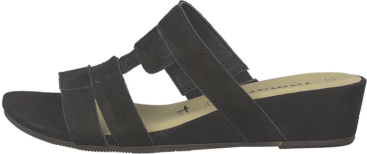 Neu Tamaris Komfort-Pantoletten 10273281 für Damen sand schwarz
