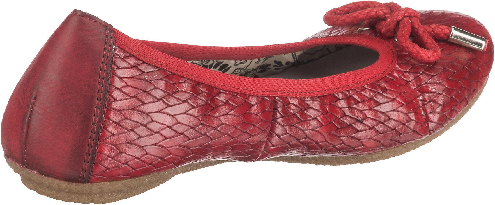 Neu rieker Ballerinas 10625657 für Damen rot