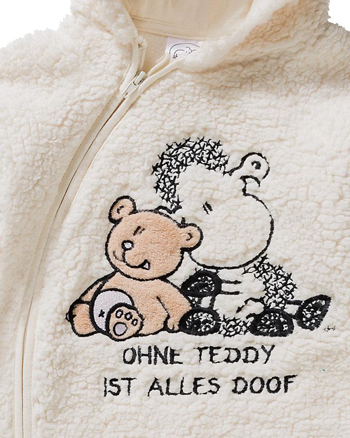 Neu Sheepworld Baby Kapuzen-Fleeceoverall mit Ohren und Stickerei 11342442