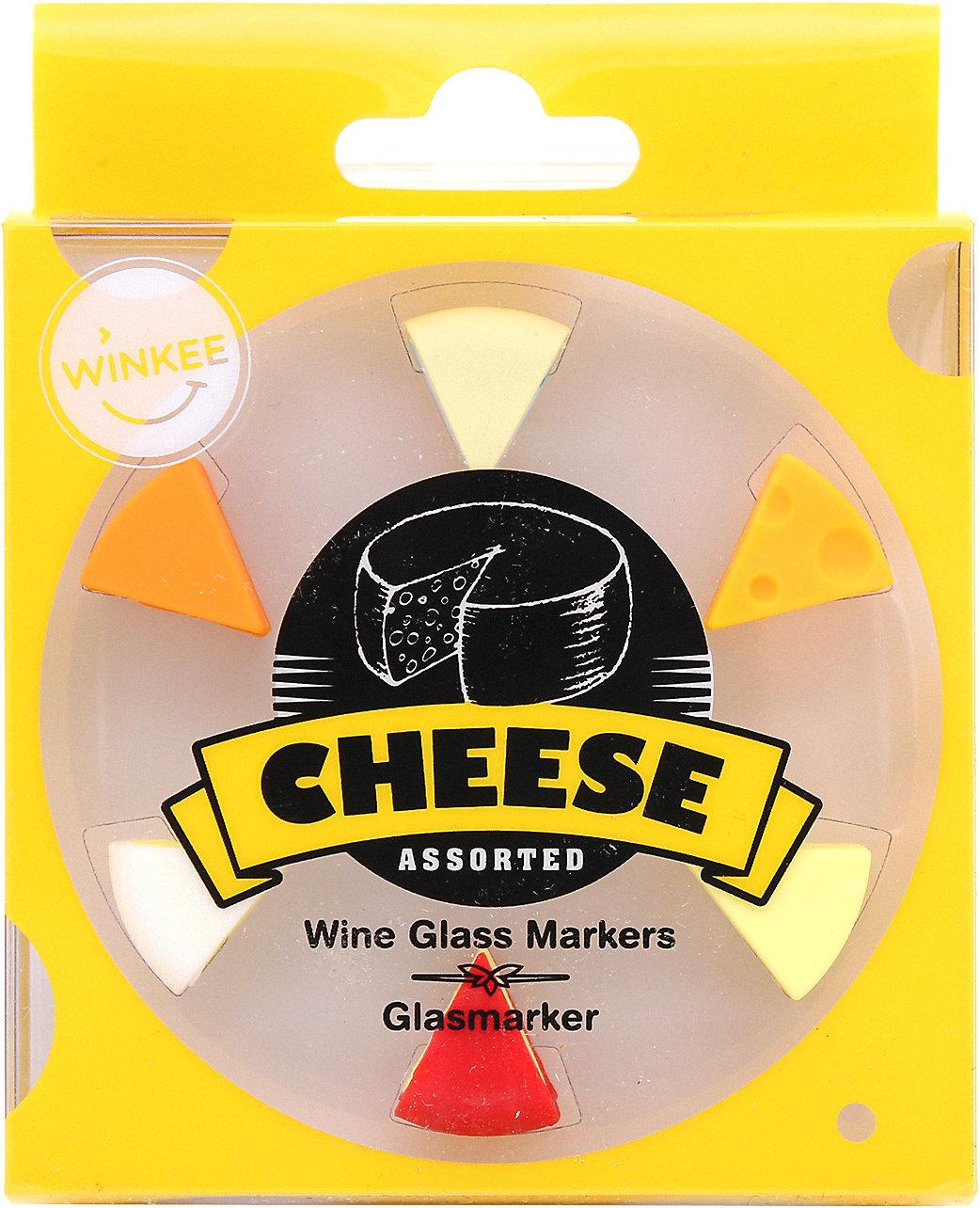 """Neu Winkee 6-tlg Set Glasmarkierer /""""Käse/"""" 13032819 gelb"""