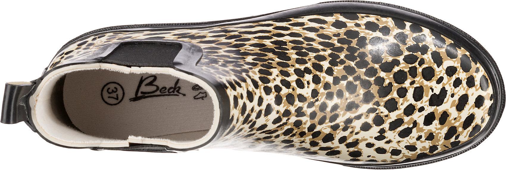 Neu Beck Wildlife Gummistiefel 13845765 für Damen schwarz-kombi