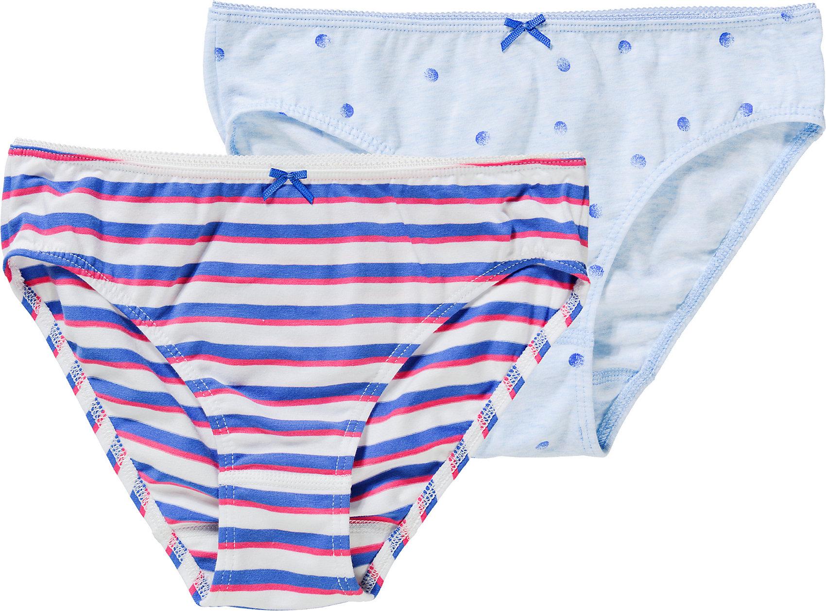 Doppelpack 14072571 für Mädchen blau Neu Sanetta Slip für Mädchen