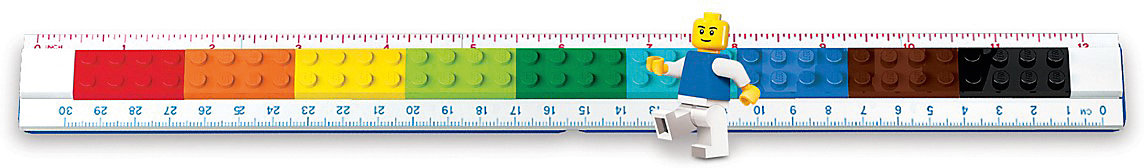 15-30 cm 14365407 bunt zum Selbstbauen Neu LEGO Lineal LEGO