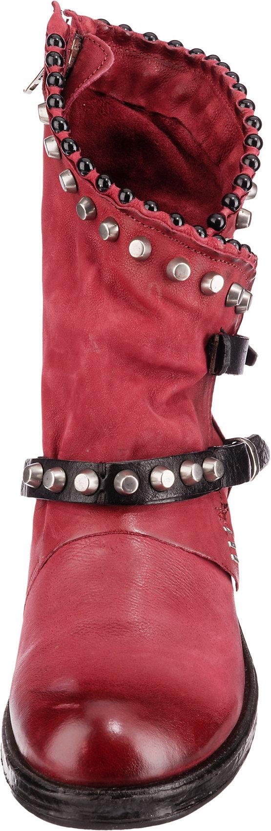 Neu A.S.98 Biker Boots 15334296 für Damen cognac rot schwarz grün