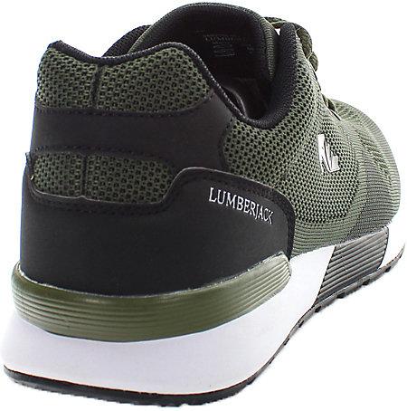 Neu Lumberjack Vendor Sneakers Low 18187488 für Herren grau weiß khaki