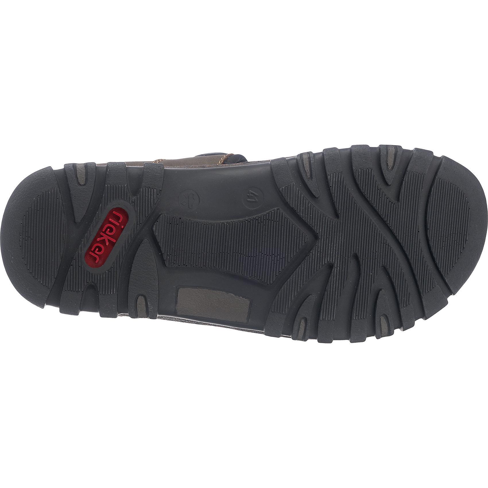 neu rieker sandalen braun kombi schwarz modell 1 5715064 ebay. Black Bedroom Furniture Sets. Home Design Ideas