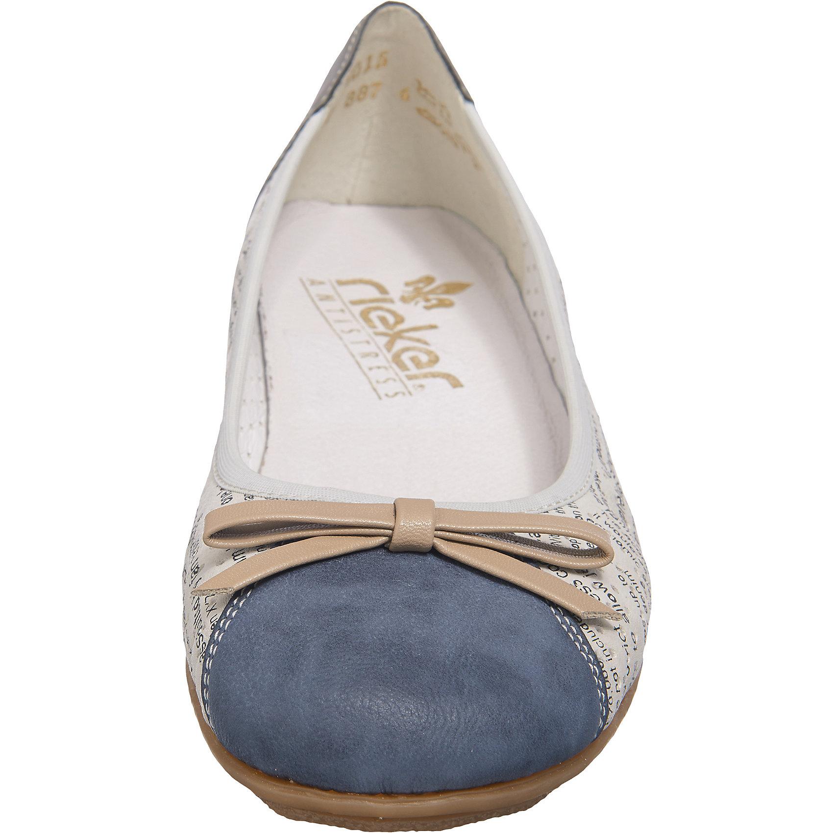 Neu rieker Ballerinas 5744814 für Damen weiß-kombi