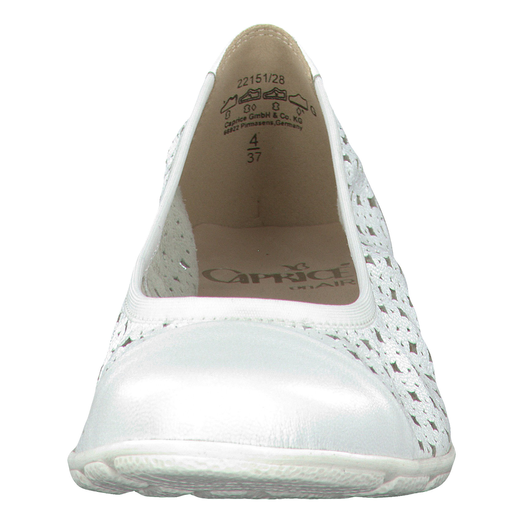 Neu CAPRICE Alba Ballerinas weiß weiß weiß 5765625 cf1e11