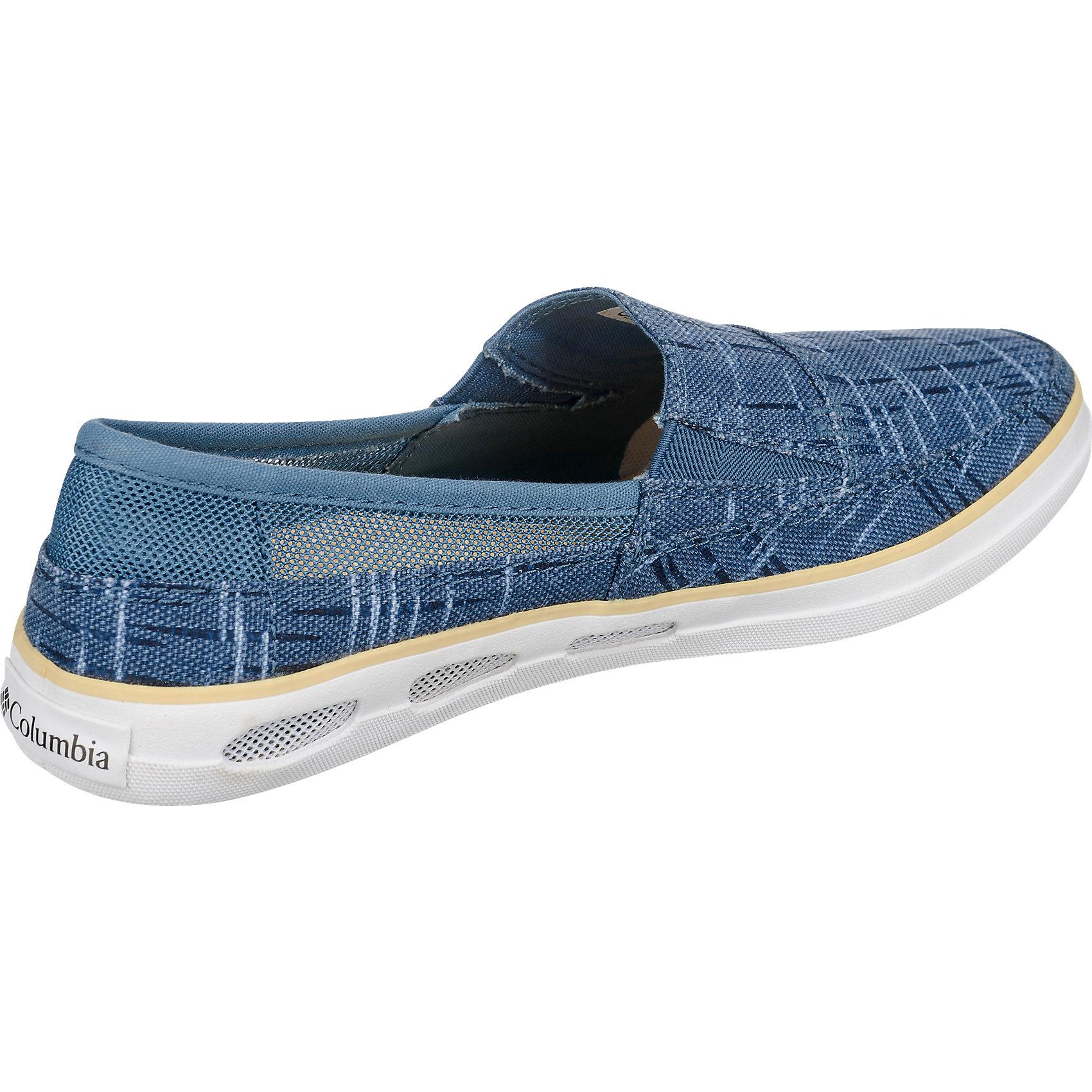 Neu Columbia Vulc blau N Vent Slip Outdoor Slipper schwarz blau Vulc 5766380 3a6448