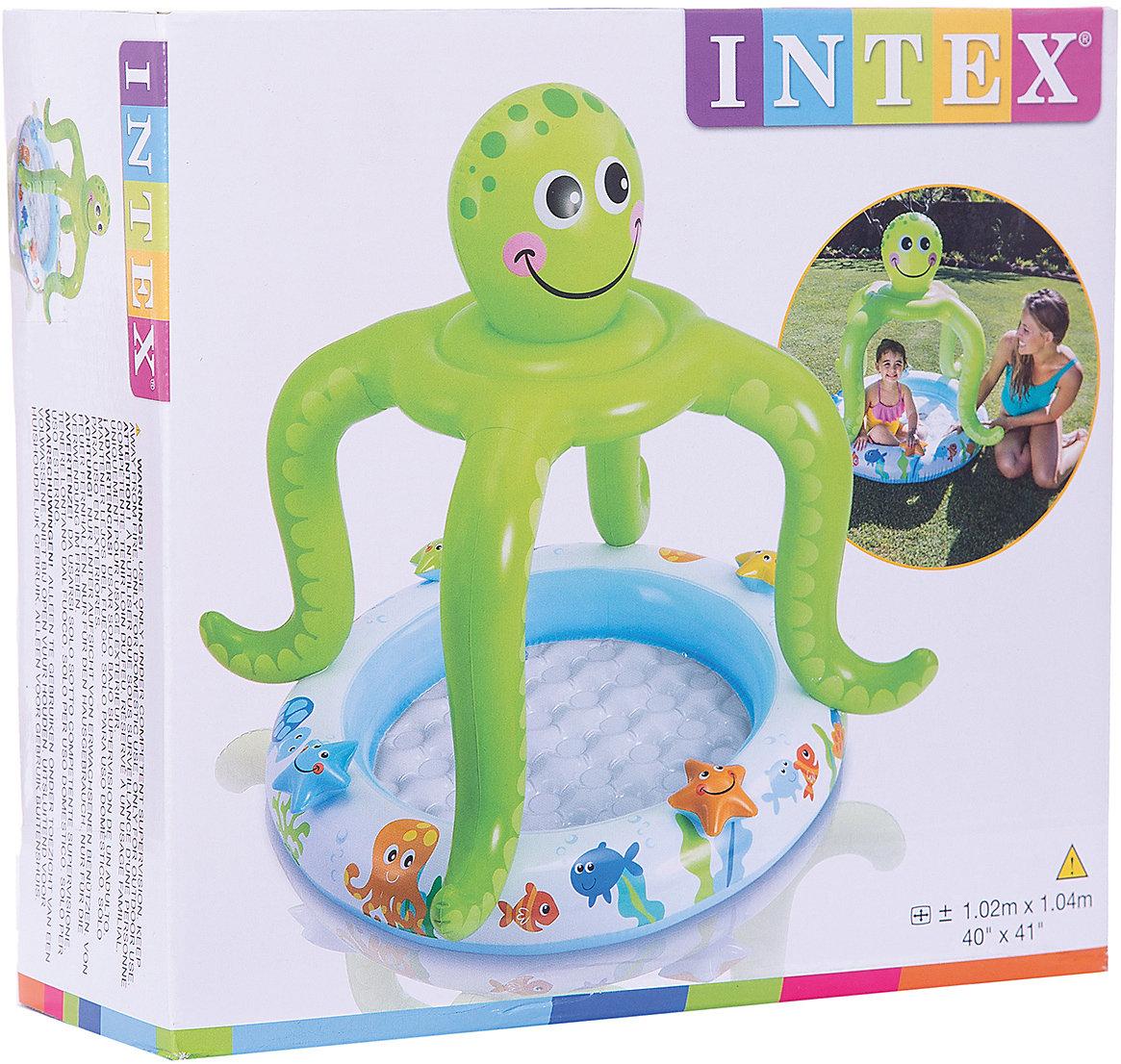 Neu Intex Planschbecken BabyPool Oktopus 6618420 grün