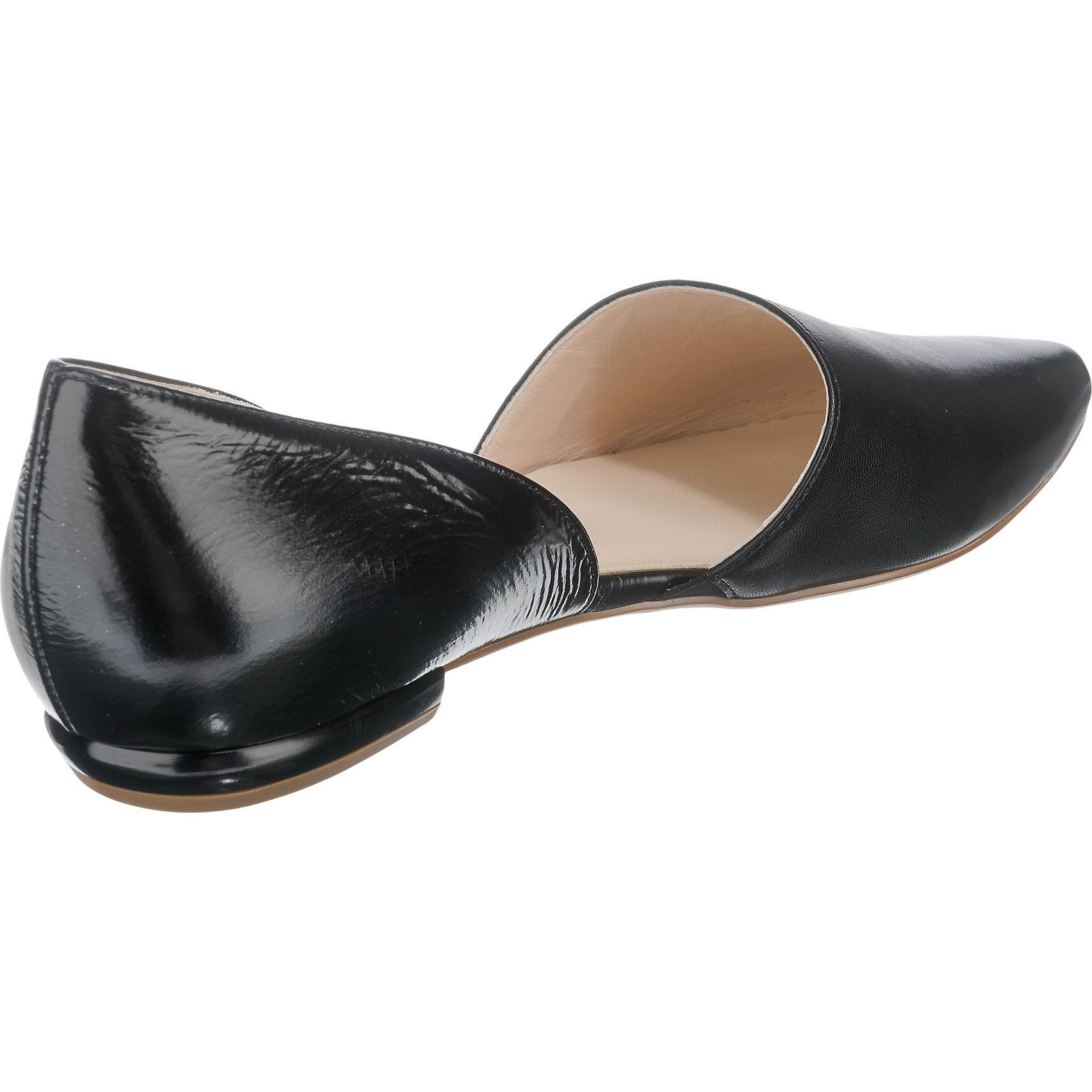 Details zu Neu högl Ballerinas silber schwarz 5767822