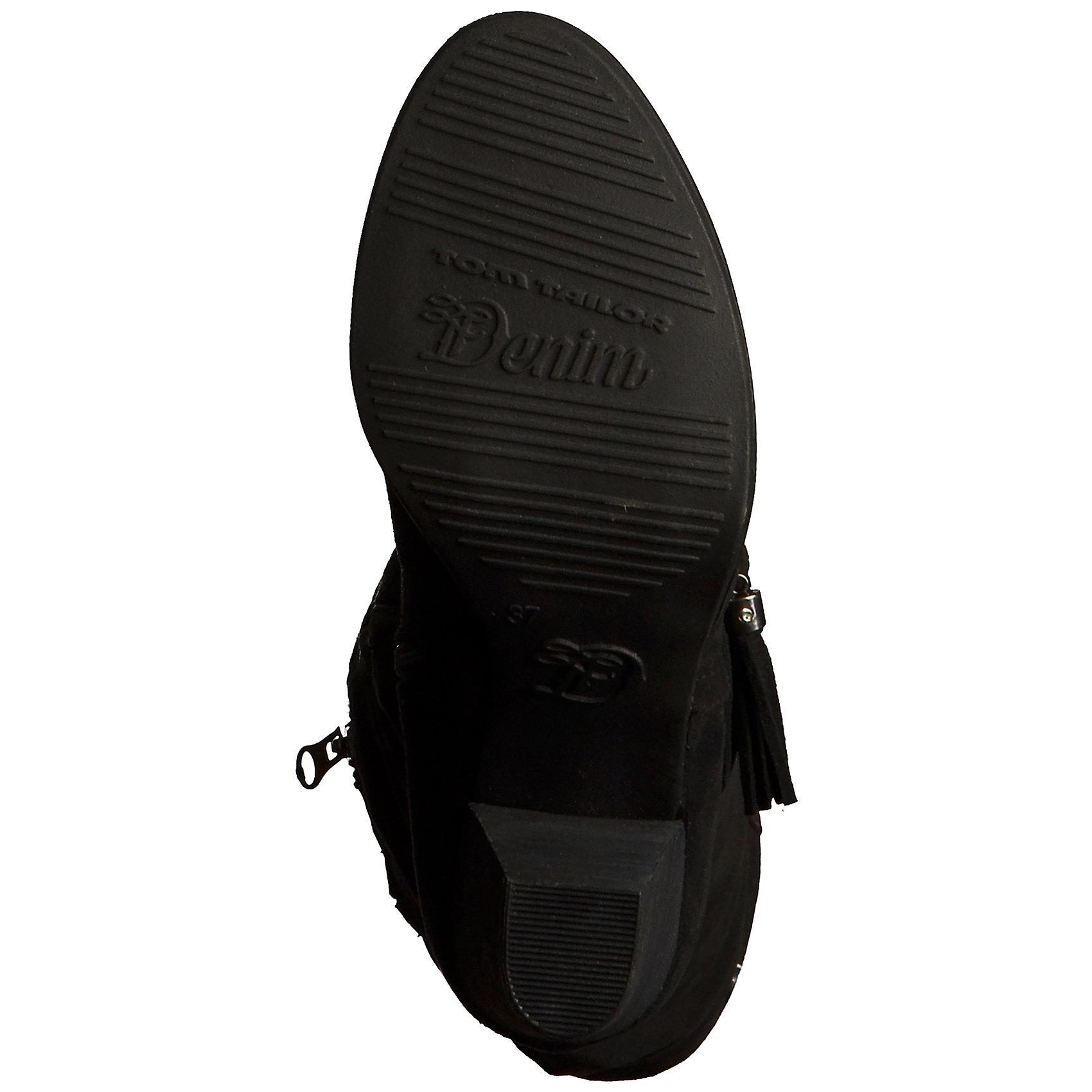 Neu TOM TAILOR Stiefel Stiefel Stiefel schwarz 5767989 5783c4