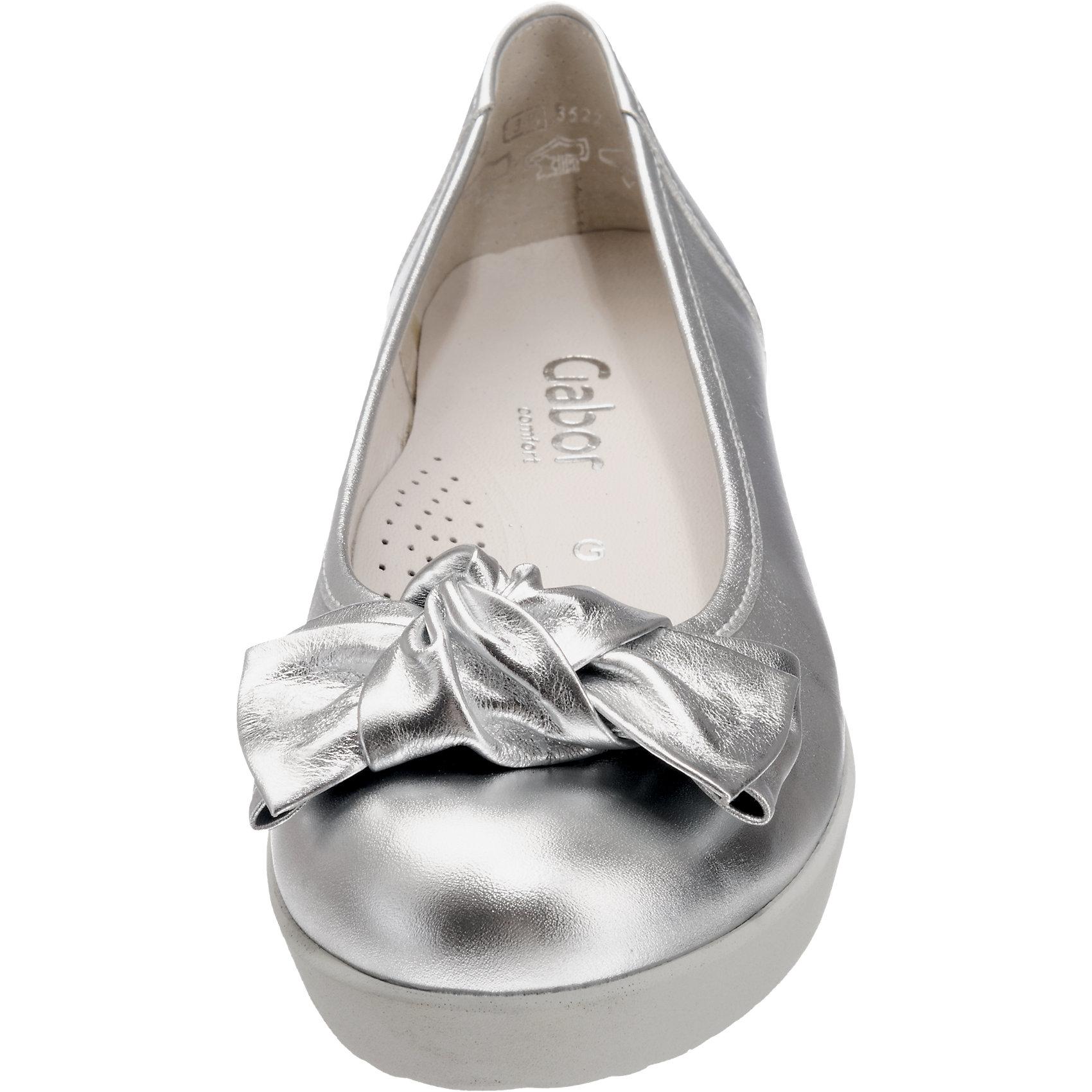 Neu Neu Neu Gabor Ballerinas silber schwarz 5769088 0e7036