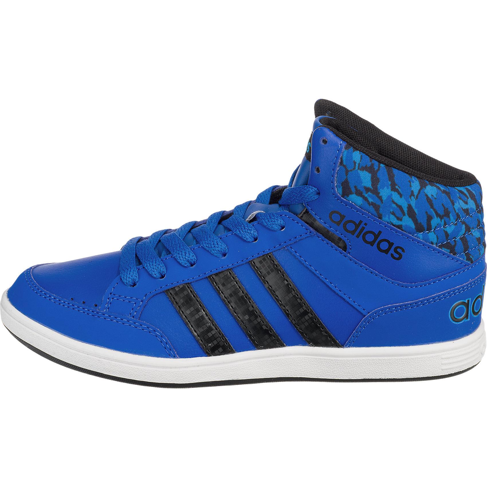 neu adidas neo kinder sneakers hoops mid dunkelblau blau. Black Bedroom Furniture Sets. Home Design Ideas