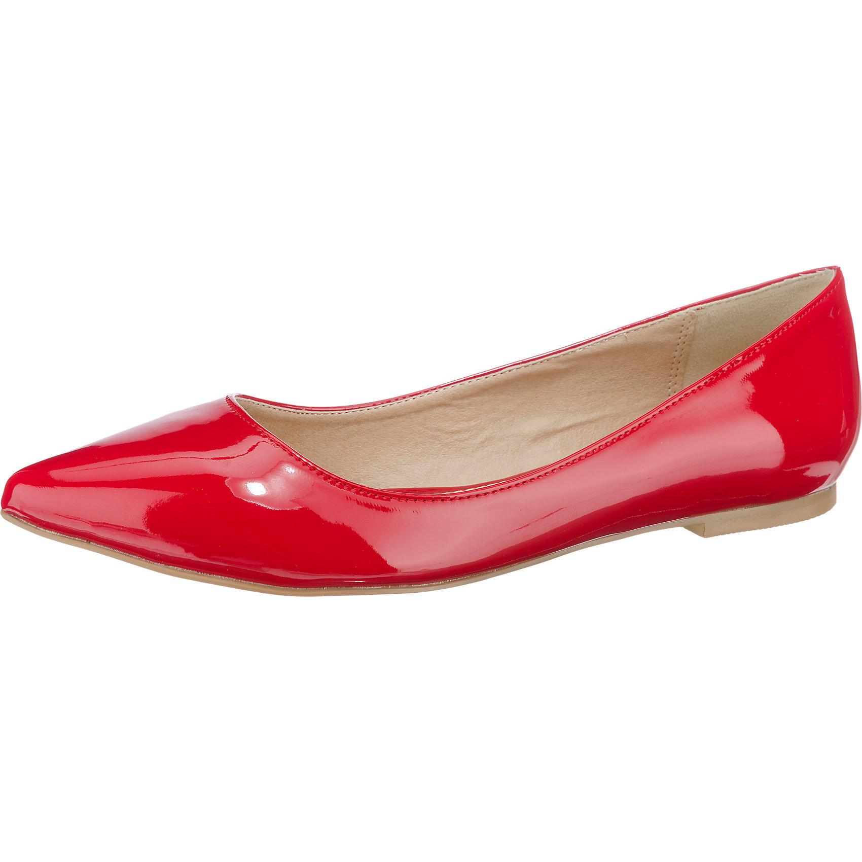 Neu BUFFALO Klassische Ballerinas 5770818 für Damen schwarz rot