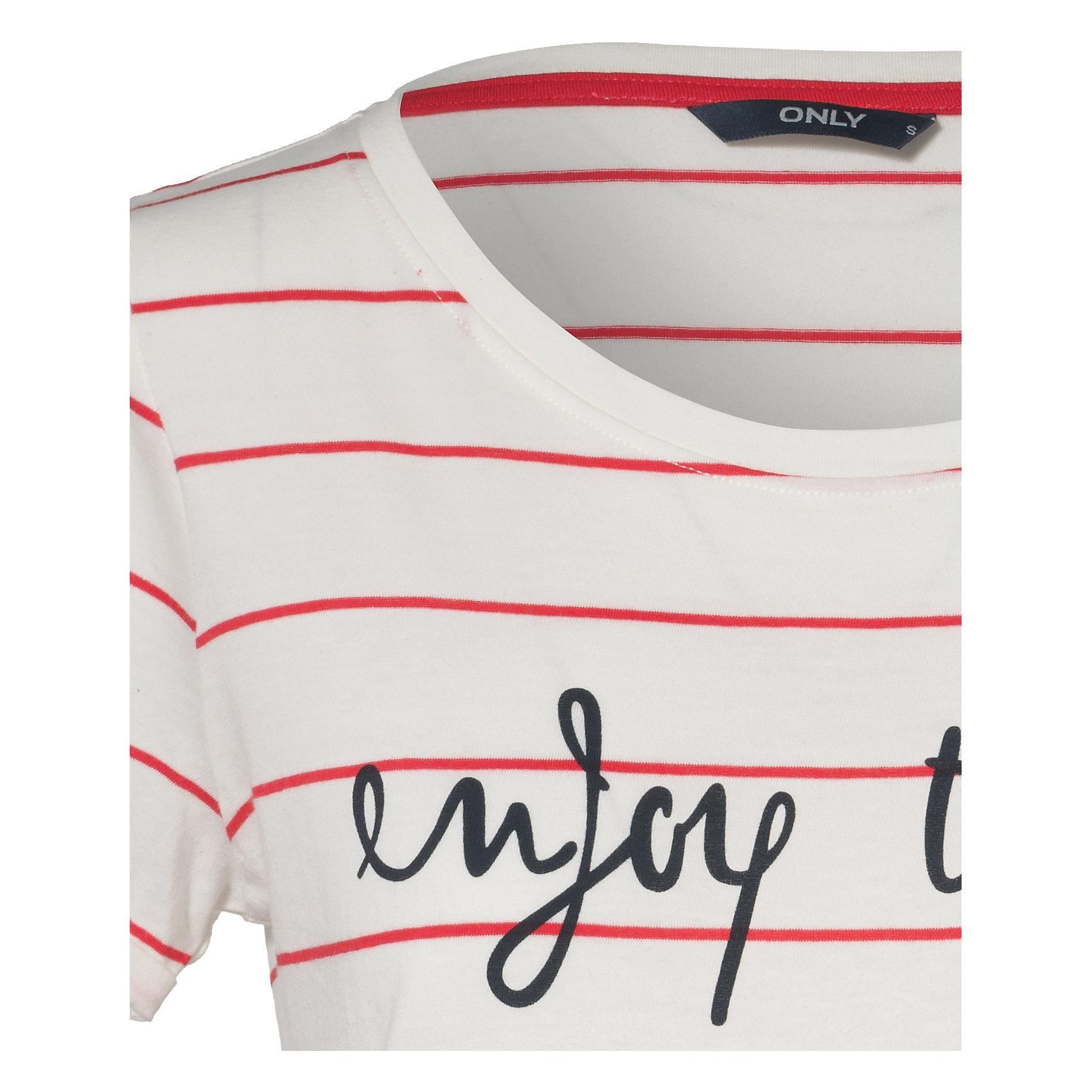 Neu-ONLY-T-Shirt-blau-weiss-rot-weiss-5643501
