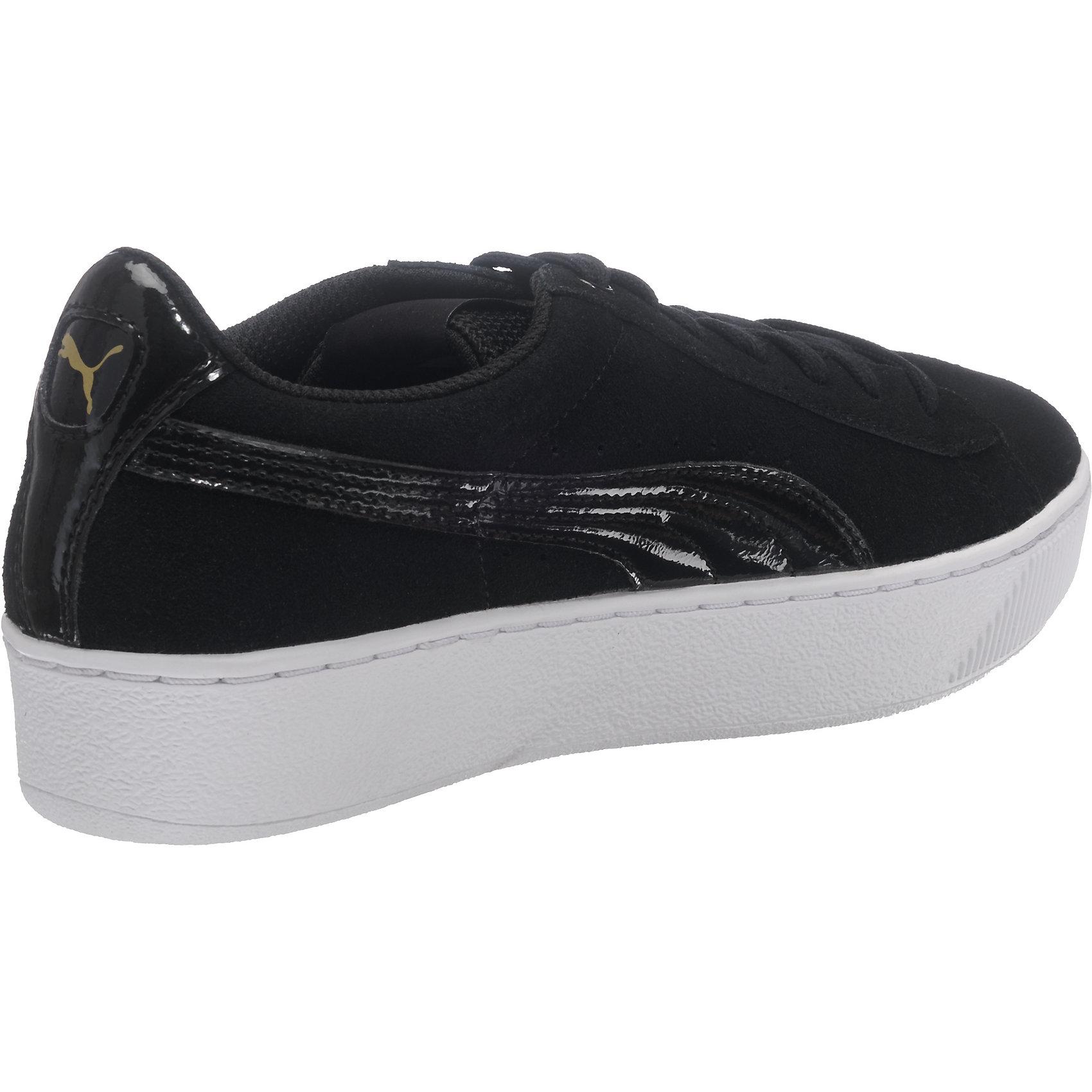 Details zu PUMA Vikky Platform Sneakers schwarz dunkelblau schwarz Modell 1 lila 5771930