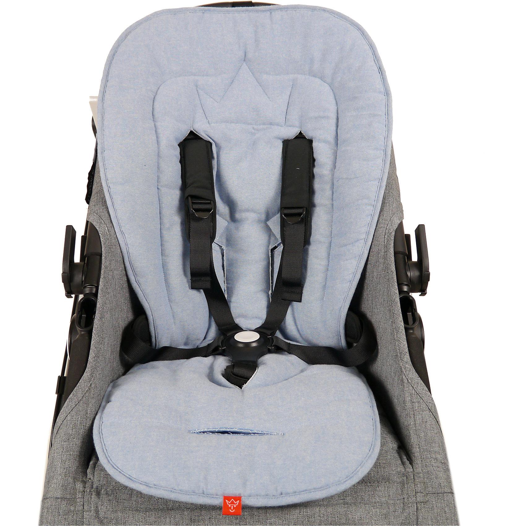 anthracite melange Kaiser Komfort Sitzauflage Crown für Kinderwagen und Buggy