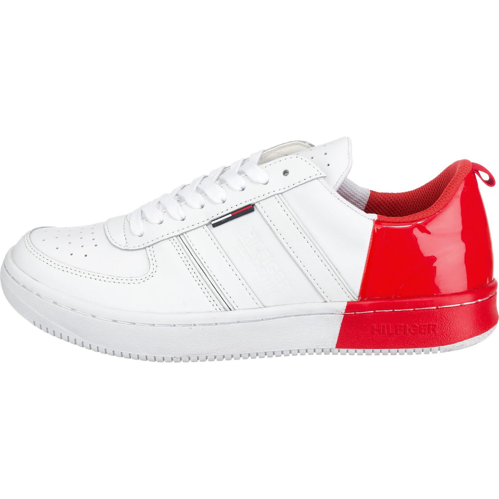 Neu HILFIGER DENIM Jump Sneakers weiß-kombi 5772507