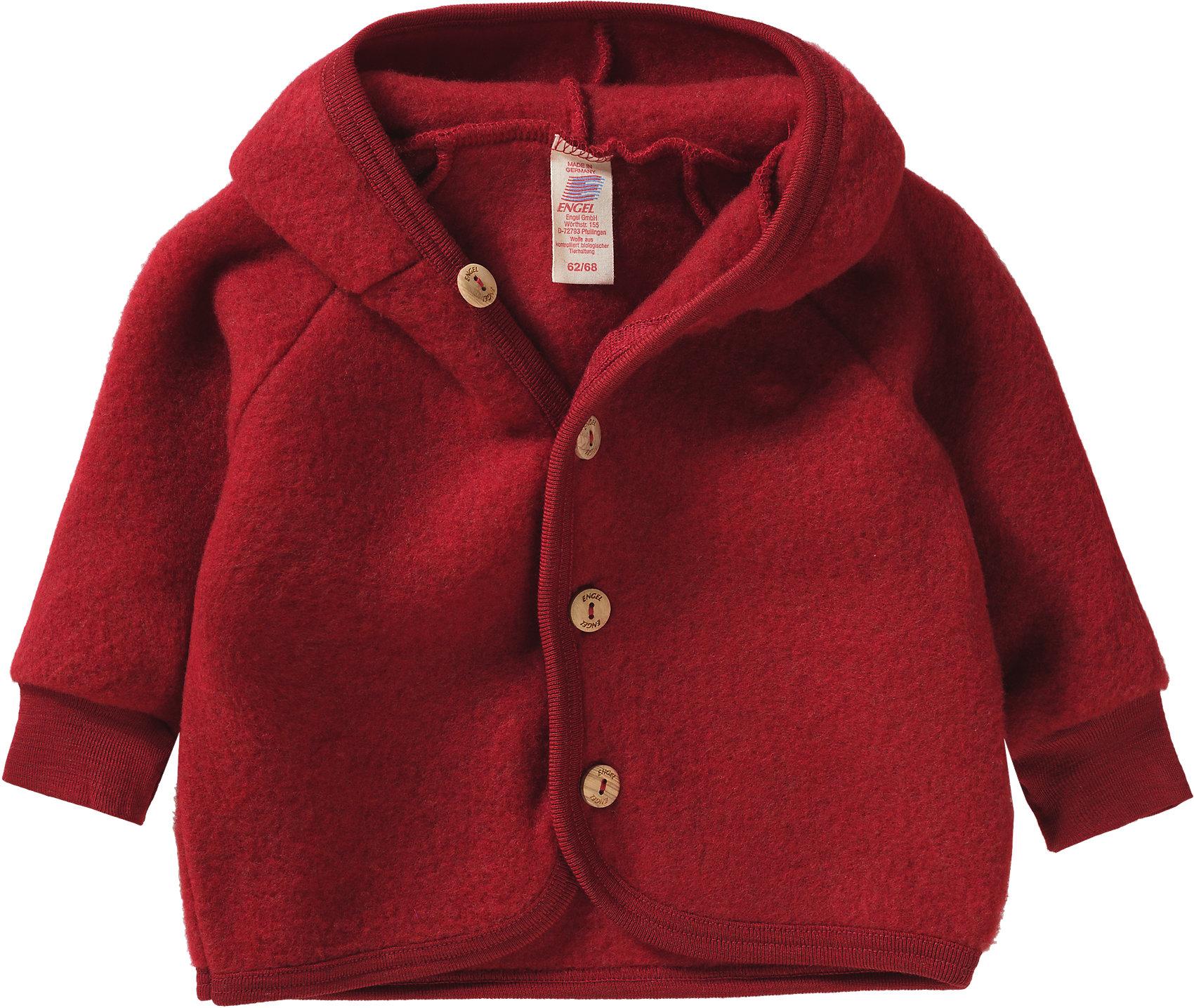 Neu ENGEL Baby Wollfleece Jacke mit Kapuze 5811663 für Jungen und Mädchen