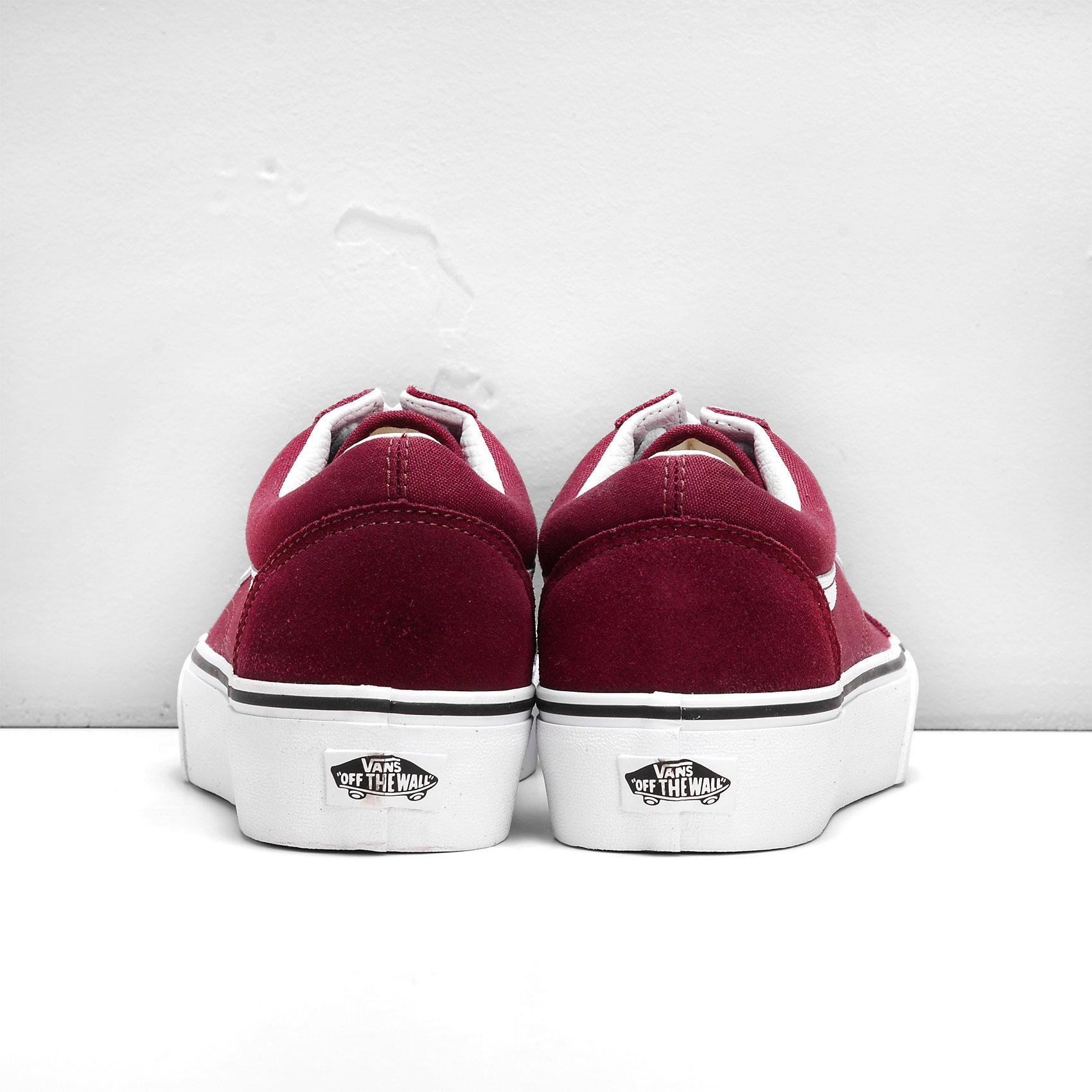 Neu VANS Old Skool Platform Platform Platform Sneakers bordeaux 6714317 2ea544