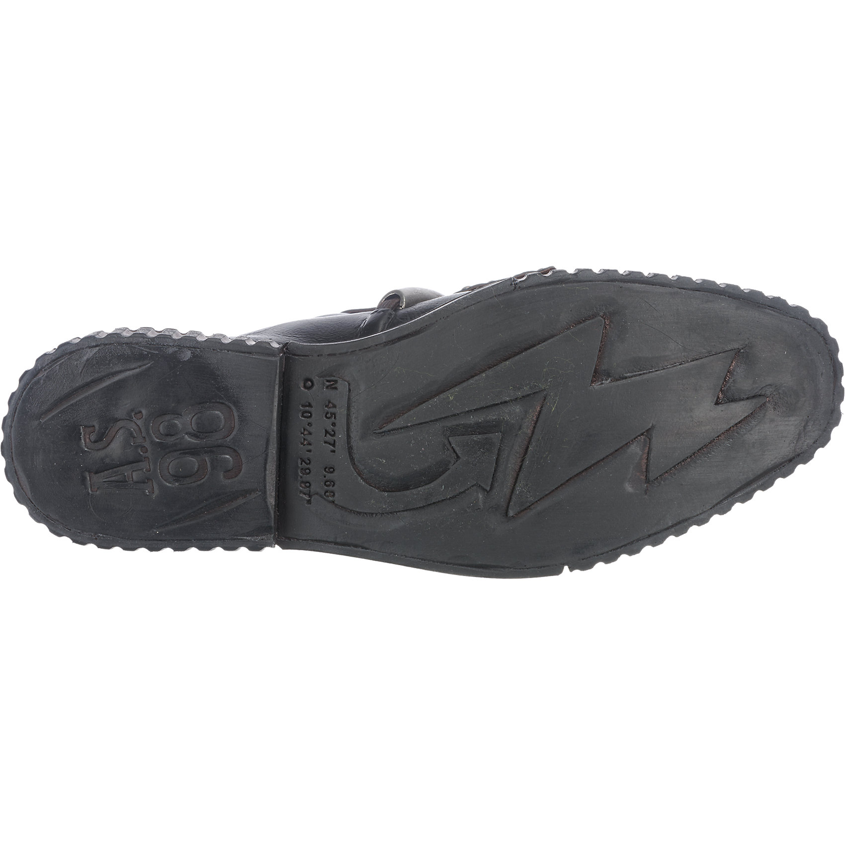 Neu A.S.98 CUT Slipper Slipper CUT schwarz 6734770 314035