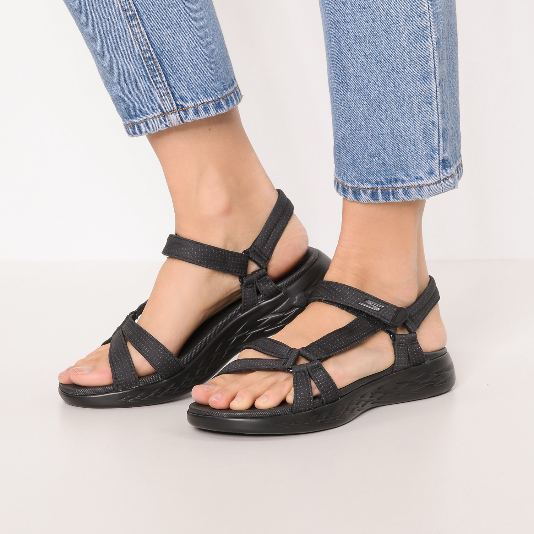 Neu SKECHERS On-the-go 600 Brilliancy Komfort-Sandalen 7393817 für Damen