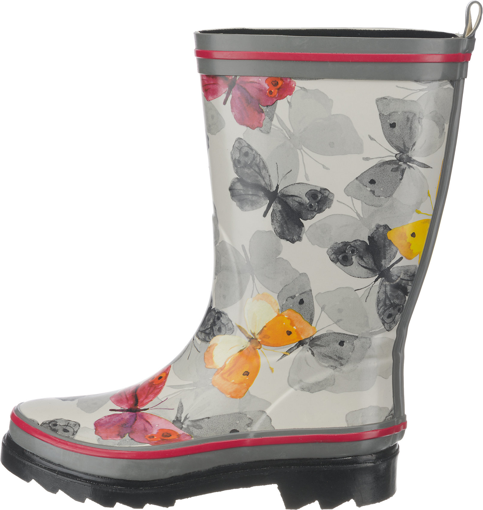 Neu Beck Schmetterling Gummistiefel 7409137 für Damen mehrfarbig