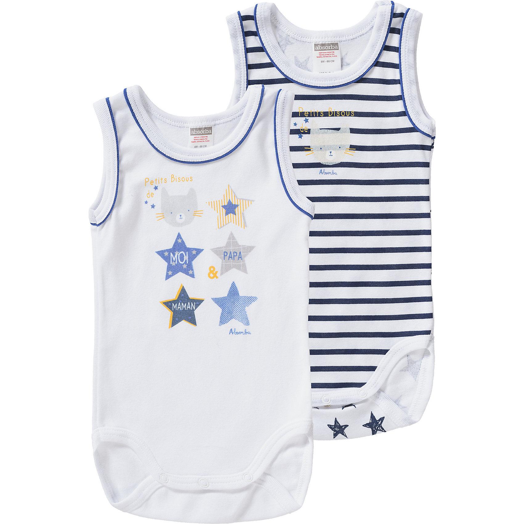 Neu Absorba Bodys Doppelpack für Jungen 7433971 für Jungen dunkelblau