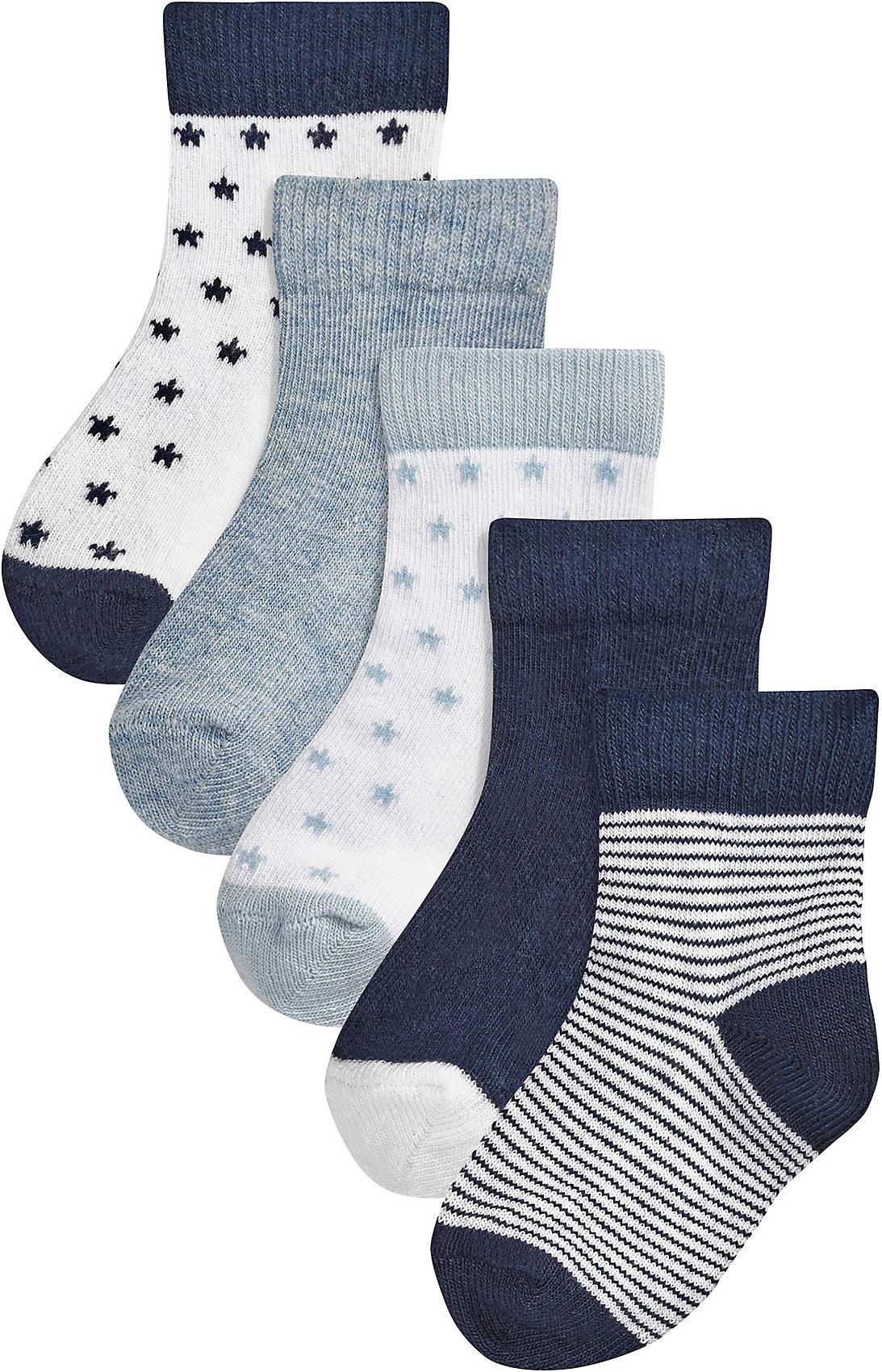 Neu next Baby Socken 5er Pack 7547353 für Jungen und Mädchen blau