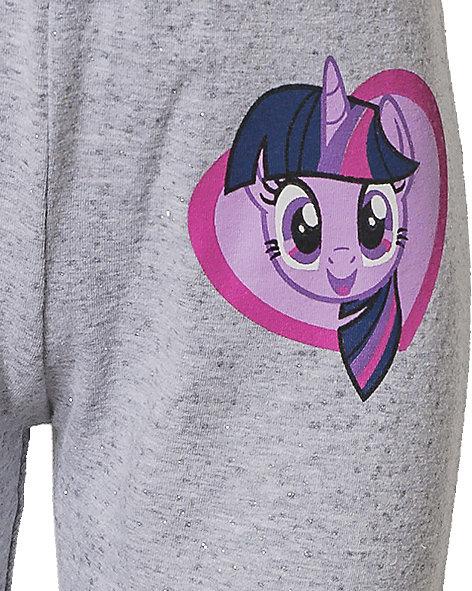 glitzernder My little Pony Kinder Set Kapuzensweatkleid mit Einhorn und Ohren
