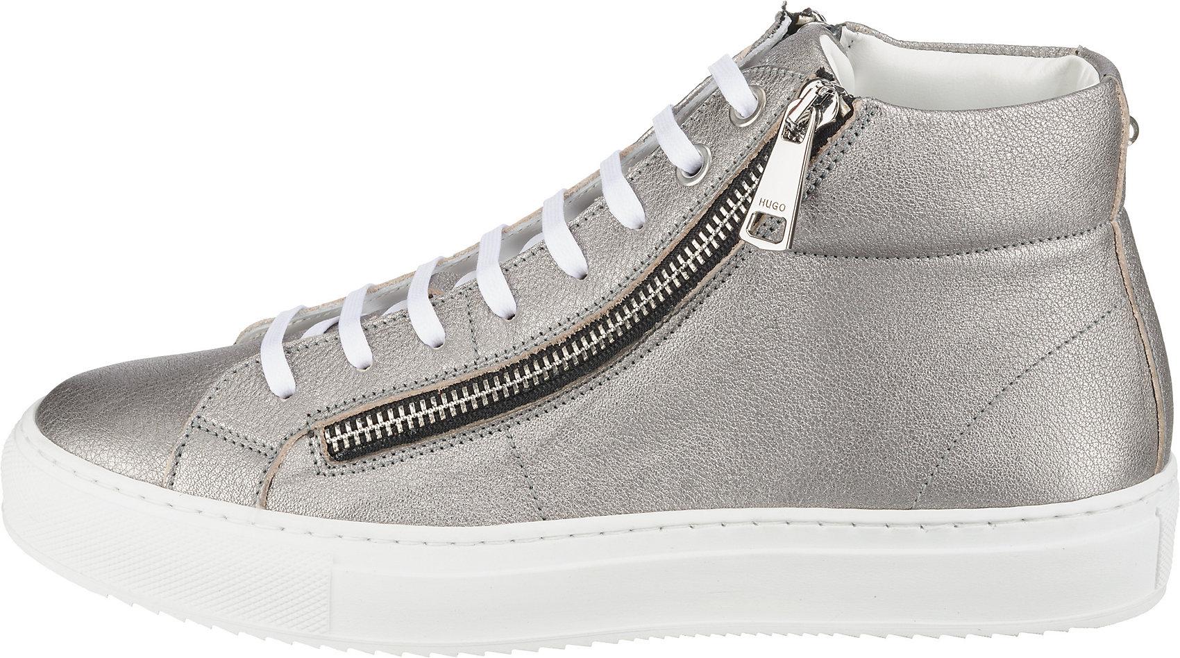 "Neu HUGO Model /""Hoxton/"" Sneakers High 8400699 für Damen silber"