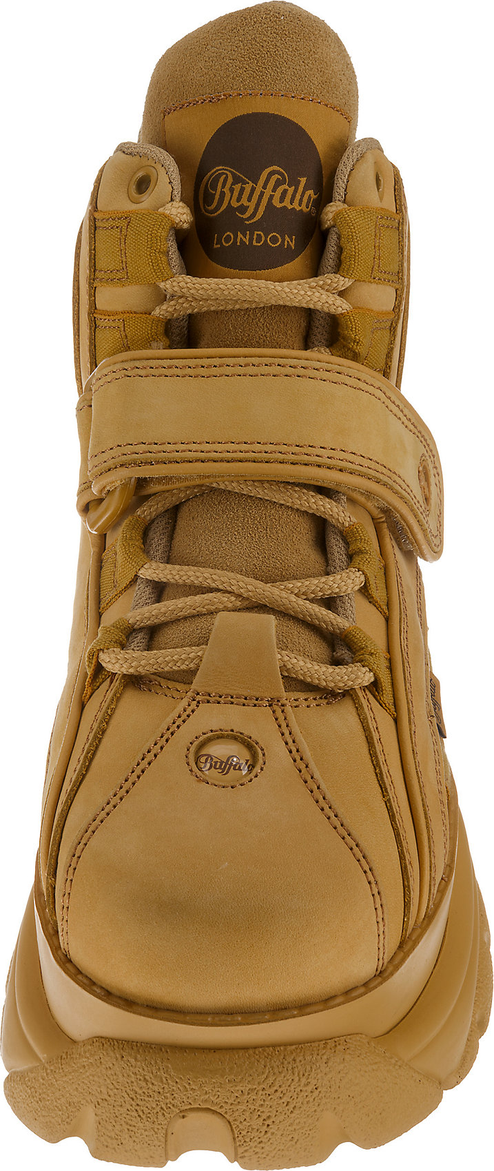 Neu Buffalo London 1534041 Sneakers High 8714811 für Damen beige weiß